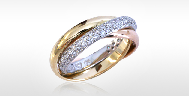 pave set diamond russian wedding ring - Russian Wedding Ring